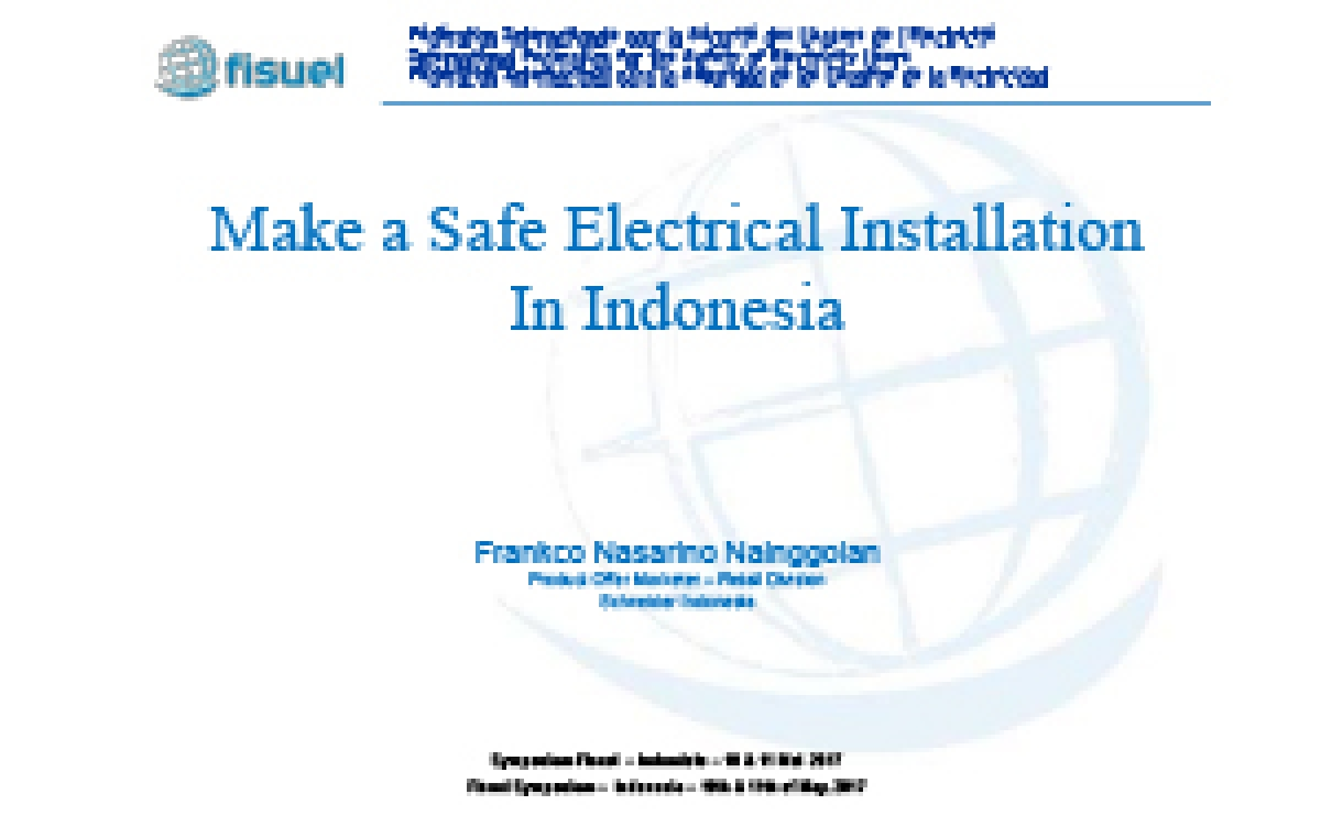 Make A Safe Electrical Installation In Indonesia