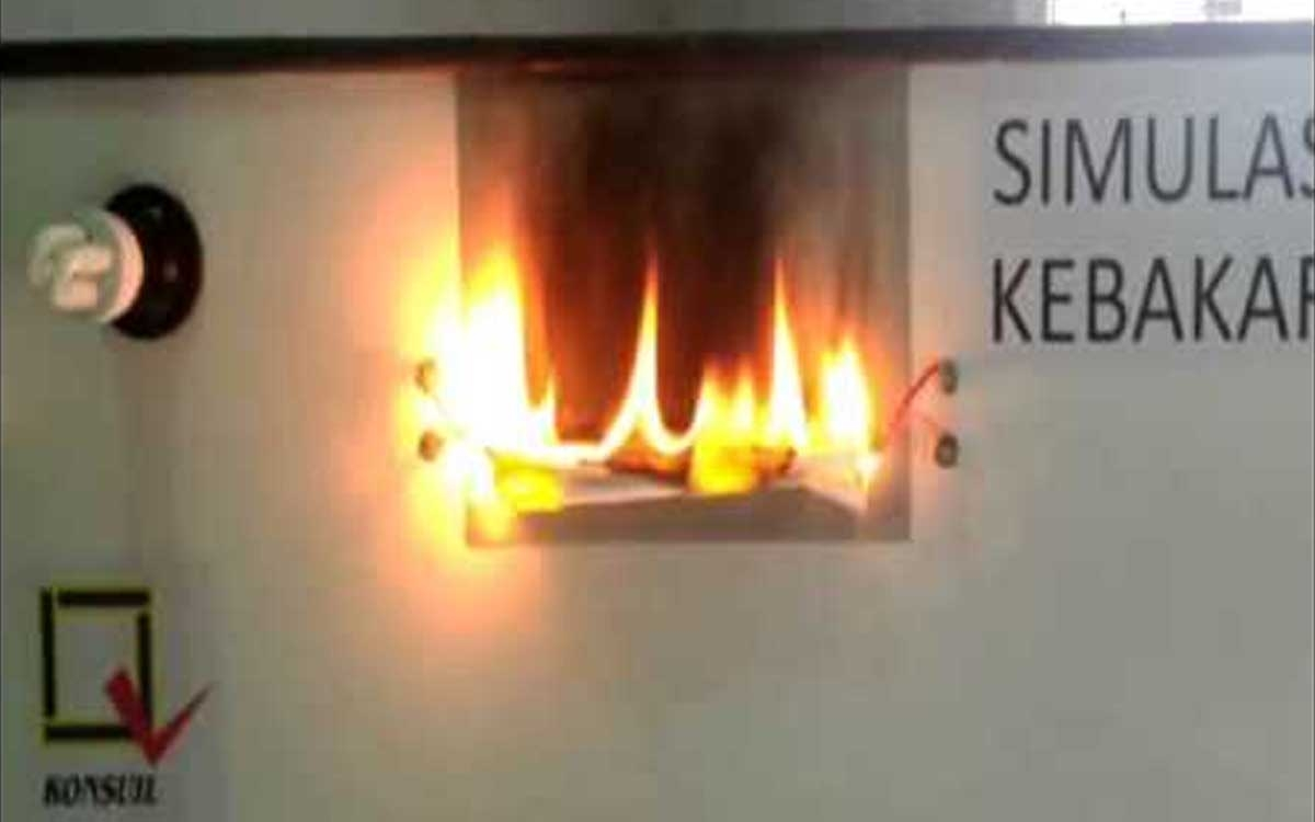Video Simulasi Kabel Terbakar