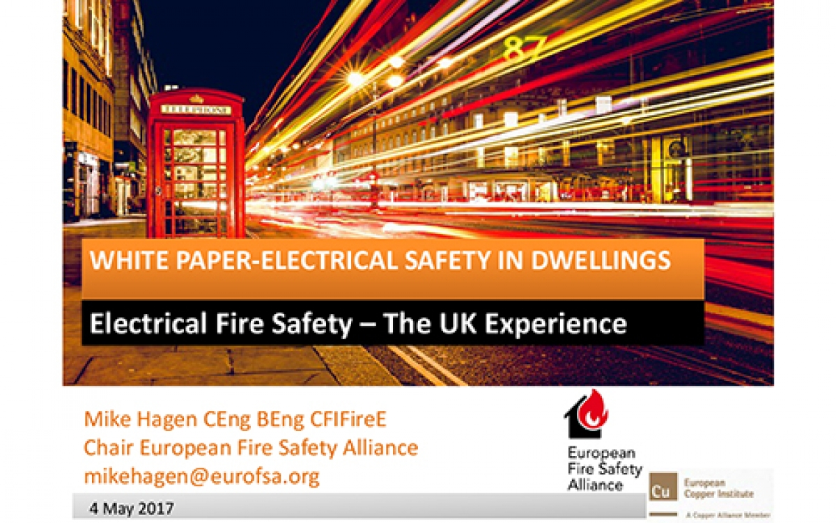 FISUEL GAM 2017 - Electrical Fire Safety in Dwelings FEEDS May 2017