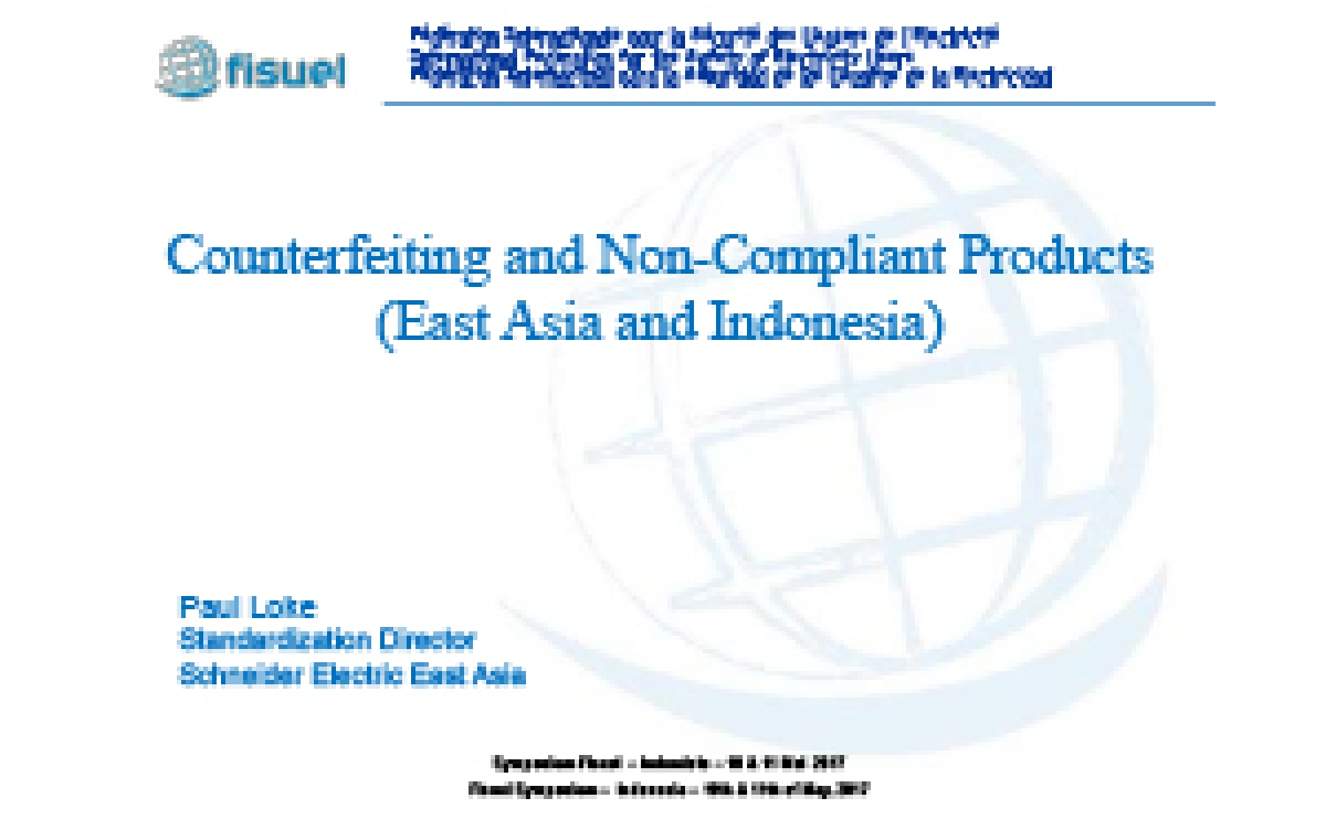Counterfeiting and Non-Compliant Products (East Asia and Indonesia)