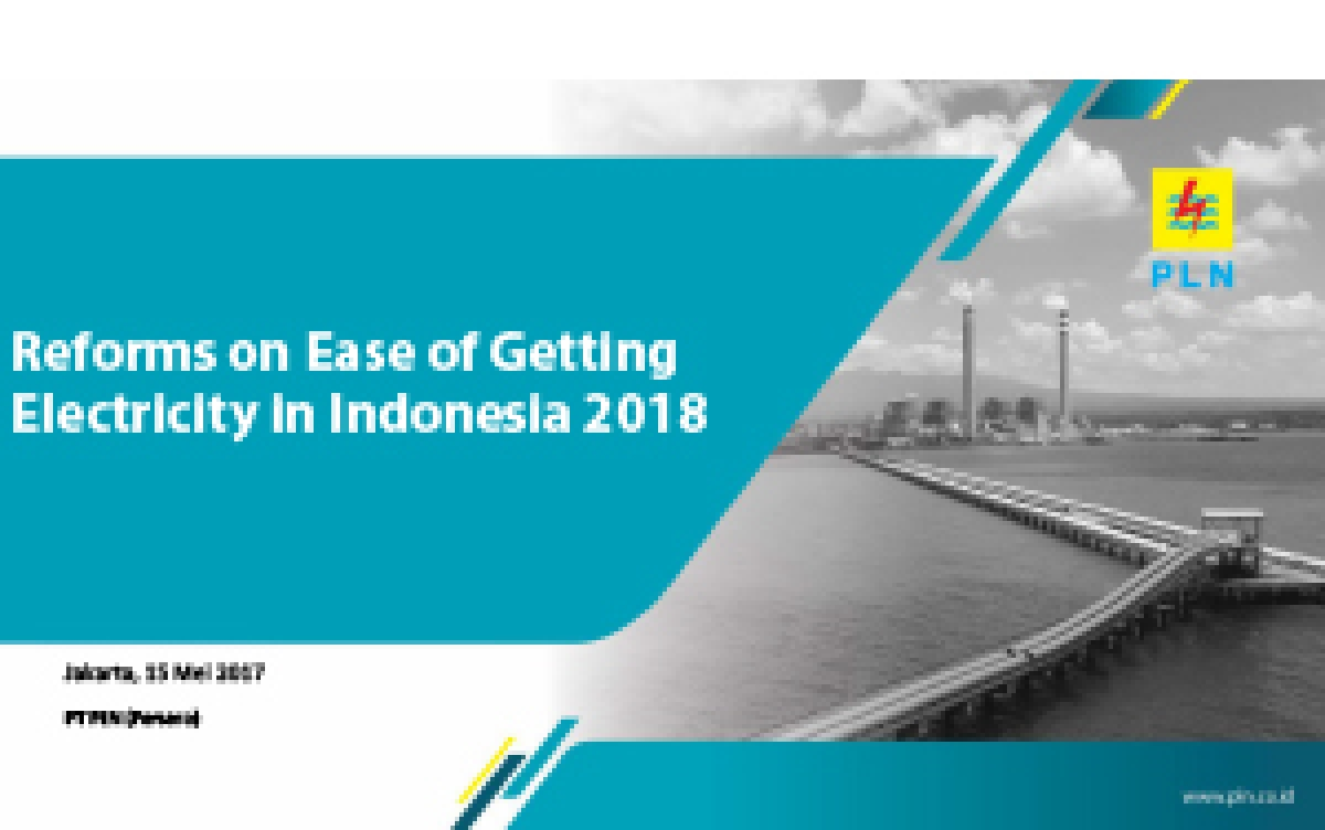 Reforms on Ease of Getting Electricity in Indonesia 2018