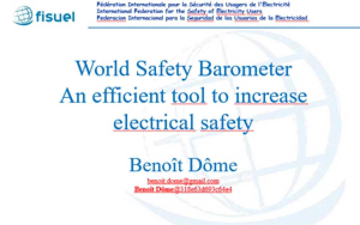 World Safety Barometer An efficient tool to increase electrical safety